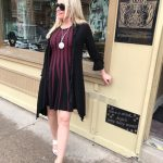 Adore Black & Wine Dress