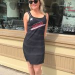 Tricotto Strappy Black Stripe Dress