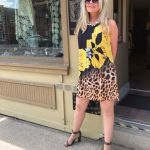 Tricotto Yellow & Black Dress