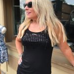 Tricotto Black Sleeveless Bling Top