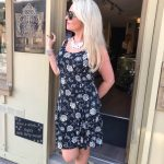 Tricotto Sleeveless Black and White Summer Dress