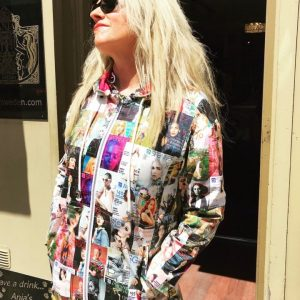Magazine Print Raincoat