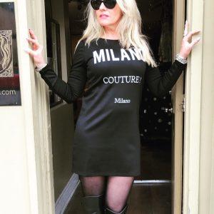 Milano Black Dress
