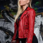 Ruby Red Lambskin Jacket