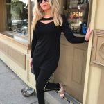 Black Open Cut Tunic