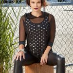 Black Mesh Cover Up