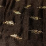Gold Feather Print Scarves