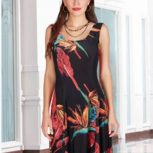 Dark Colourful Garden Dress