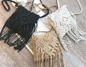Kira Crochet Fringe Bag