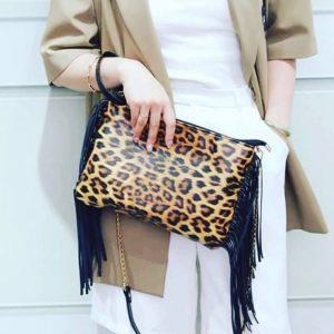 Leopard & Fringe Purse