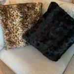 Luxury Fur-inspired Pillows – Black